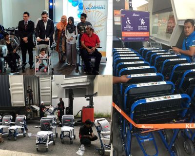 Lifeline has supplied the Malaysian Airport with Staxi pushchairs