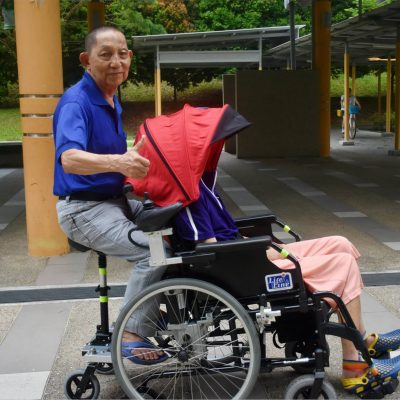 Retired ITE lecturer created another genius contraption: A hoverboard wheelchair